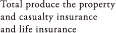 Total produce the properry and casualty insurance and life insurance